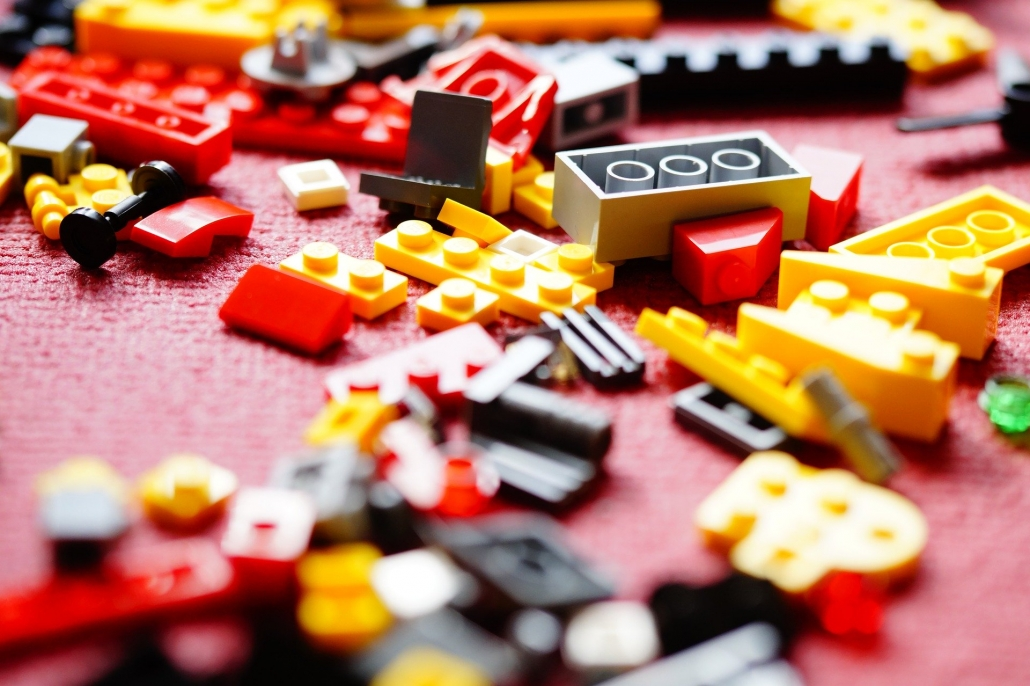 Injection moulded lego