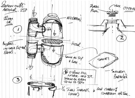 Filtration Design System Drawing